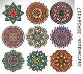 mandalas. vintage decorative... | Shutterstock .eps vector #304364117