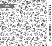 confectionery vector pattern.... | Shutterstock .eps vector #304367831