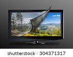 television display with new... | Shutterstock . vector #304371317