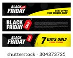 black friday banners. sale | Shutterstock .eps vector #304373735