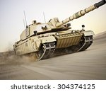 military armored tank  moving... | Shutterstock . vector #304374125