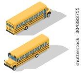 school bus detailed isometric...   Shutterstock .eps vector #304383755