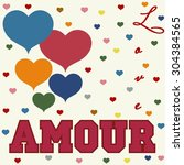 love amour fashion design print ... | Shutterstock .eps vector #304384565