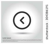 back arrow icon. circle concept ...