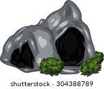 illustration cave