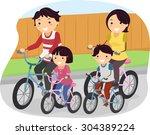 stickman illustration of a... | Shutterstock .eps vector #304389224