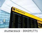 flight information  arrival ...   Shutterstock . vector #304391771