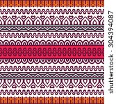 seamless pattern. vintage... | Shutterstock .eps vector #304394087