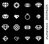 vector white diamond icon set...