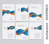 vector brochure  annual report  ... | Shutterstock .eps vector #304398815