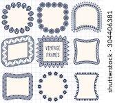 vector frames. vintage... | Shutterstock .eps vector #304406381