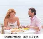 couple resting in the...   Shutterstock . vector #304411145