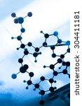 science molecule dna model... | Shutterstock . vector #304411181