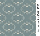 vintage seamless pattern with... | Shutterstock .eps vector #304414799