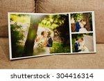 gray and brown textile velvet... | Shutterstock . vector #304416314