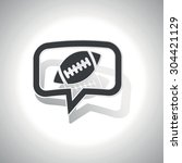 curved chat bubble with rugby...