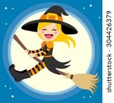 Cute Little Blonde Girl Witch...