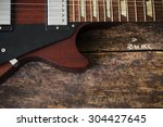 Half Electric Guitar On A...