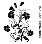 floral element for design ... | Shutterstock .eps vector #3044290