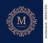 elegant monogram design... | Shutterstock .eps vector #304437341