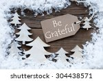brown christmas label with... | Shutterstock . vector #304438571