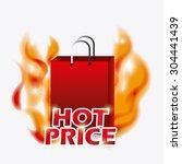 shopping digital design  vector ... | Shutterstock .eps vector #304441439
