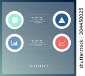 business infographics minimal...   Shutterstock .eps vector #304450025
