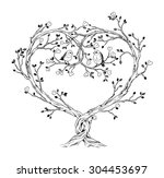 trees intertwined in heart...