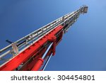 fire truck ladder leading up... | Shutterstock . vector #304454801