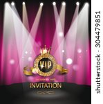 vip invitation card with scene...   Shutterstock .eps vector #304479851