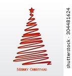 christmas background. christmas ... | Shutterstock .eps vector #304481624