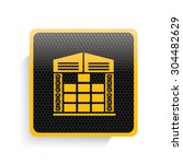 storage icon design yellow... | Shutterstock .eps vector #304482629
