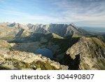 high tatra mountains at dusk.... | Shutterstock . vector #304490807