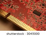 a closeup of a computer circuit ... | Shutterstock . vector #3045000