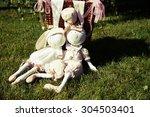 wedding ceremony decoration.... | Shutterstock . vector #304503401