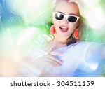 Colorful Summer Portrait Of...