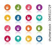 hand icons | Shutterstock .eps vector #304511729