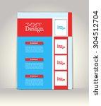 flyer  brochure or magazine... | Shutterstock .eps vector #304512704