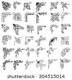 36 design elements   Shutterstock .eps vector #304515014