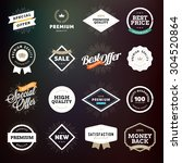 collection of premium quality... | Shutterstock .eps vector #304520864