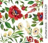 illustration for textile ... | Shutterstock . vector #304523129