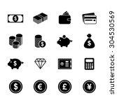 money icons. finance icon....