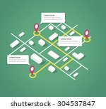 isometric city map design... | Shutterstock .eps vector #304537847