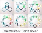 round information blocks... | Shutterstock .eps vector #304542737
