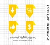 labels ribbons  percent  like ... | Shutterstock .eps vector #304543715