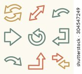 arrows web icons | Shutterstock .eps vector #304547249