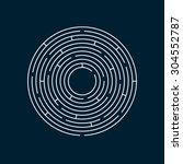 vector illustration of round... | Shutterstock .eps vector #304552787