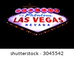 welcome to las vegas neon sign... | Shutterstock . vector #3045542