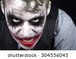 Dark Creepy Joker Face...