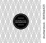 monochrome seamless art deco... | Shutterstock .eps vector #304566425